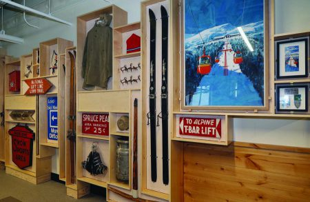 Custom Cabinet Displays Stowe's Skiing History