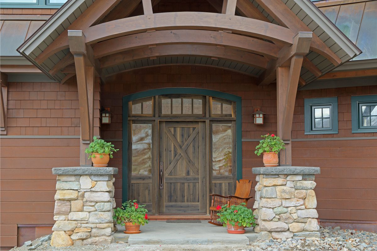 Custom Home Gets Unique Front Door